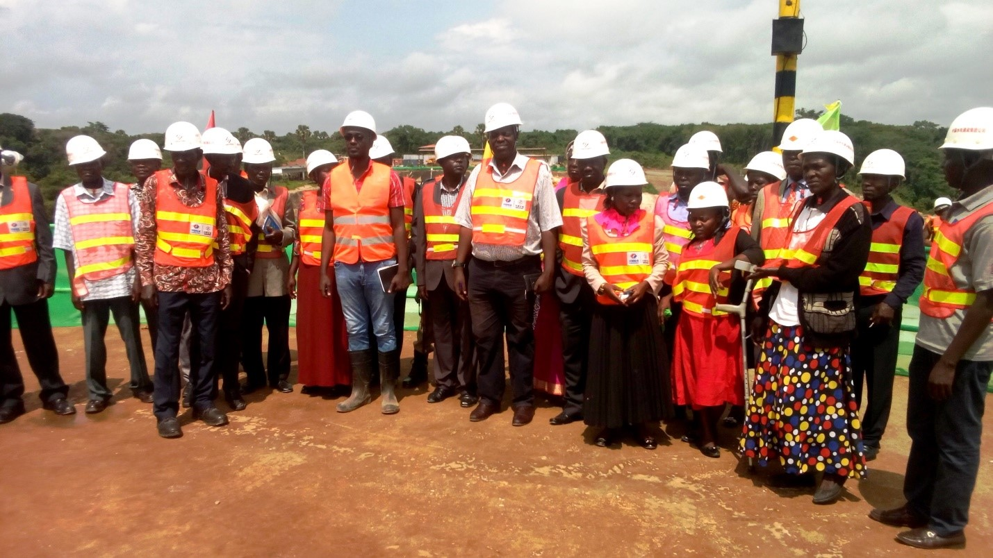 Kiryandongo officials during the inspection of Karuma Hydro Power Project
